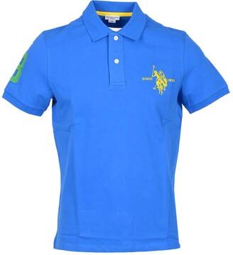 U.S. Polo Assn. Electric Blue Pique Cotton Men's Polo Shirt