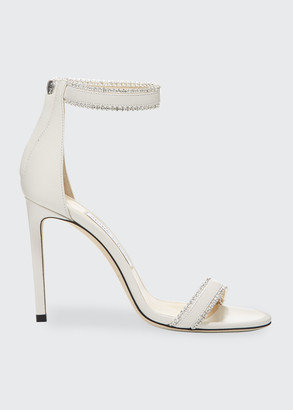 Jimmy Choo Dochas Jeweled Leather Sandals