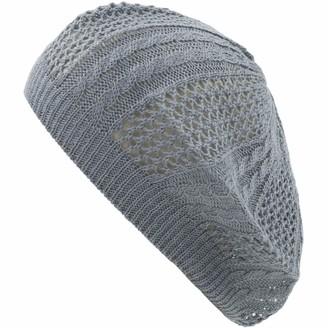 Bsb an Womens Lightweight Cut Out Knit Beanie Beret Cap Crochet Hat - Many Styles - - One Size