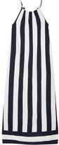 Splendid Capistan Striped Voile Maxi Dress - Midnight blue