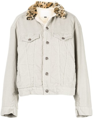 R 13 corduroy button-up jacket