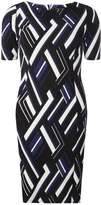 Dorothy Perkins Blue Geometric Print Shift Dress