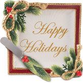 Fitz & Floyd Holiday Tidings Snack Plate & Spreader, 2-Pc. Set