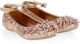 Monsoon Beaded Pom Pom Glitter Ballerina Shoes