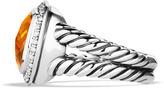 David Yurman Albion Ring with Citrine and Diamonds