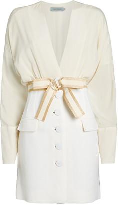 Silvia Tcherassi Carlotta Silk-Wool Dress