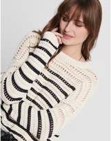 Only Cotton Mix Breton-Striped Jumper in Chunky Knit