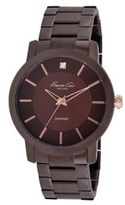 Kenneth Cole Rock Out Brown Dial Diamond Dial Analog Bracelet Watch