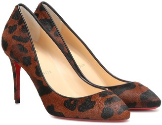 Christian Louboutin Eloise 85 printed calf hair pumps