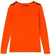 Petit Bateau Womens plain cotton sailor sweater