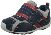 pediped Flex Adrian Sneaker (Toddler/Little Kid),Navy/Grey/Red,30 EU (12.5-13 M US Little Kid)
