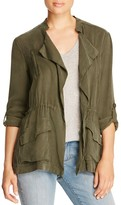 Cupcakes And Cashmere Alexander Draped Army Jacket