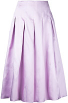 Bambah - pleated midi skirt - women - Silk - 8