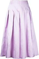 Bambah pleated midi skirt