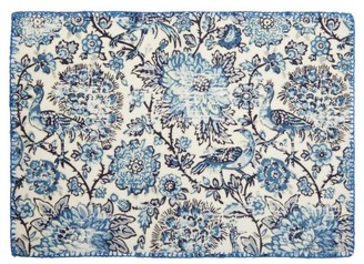 D'Ascoli Set Of Four Coromandel Linen-blend Placemats - Blue Multi