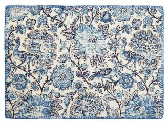 D'Ascoli Set Of Four Coromandel Linen-blend Placemats - Blue Multi