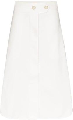 Lee Mathews Belted Midi Skirt