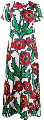 La DoubleJ Floral Print Flared Dress