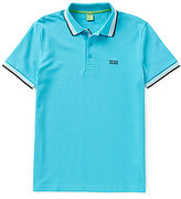 HUGO BOSS BOSS Green Paddy Logo Short-Sleeve Solid Polo Shirt