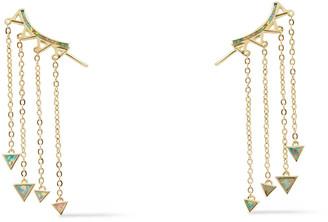 Noir 14-karat Gold-plated Stone Earrings