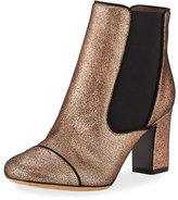 Tabitha Simmons Micki Metallic Leather Chelsea Boot, Rose Gold