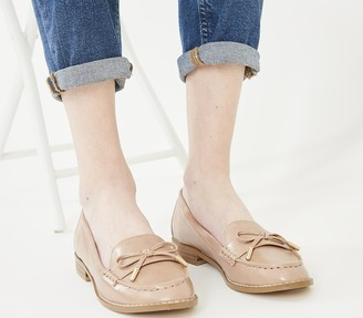 Office Flattered Bow Loafers Nude