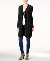 INC International Concepts Ruffled Duster Cardigan, Only at Macy's