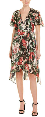 Anna Sui Rose Garland A-Line Dress
