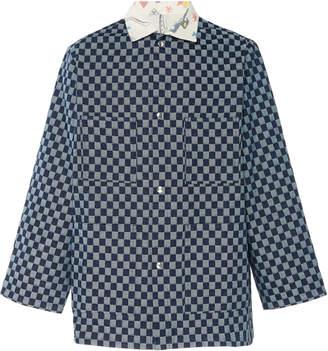 The Elder Statesman Two-Tone Checkered Chambray Jacket Size: S