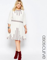 Asos Skater Dress with Pretty Folk Embroidery