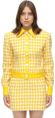 ROWEN ROSE Exclusive Houndstooth Tweed Jacket