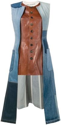 Junya Watanabe leather and denim jacket