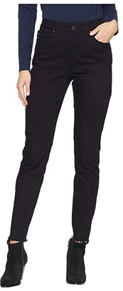 FDJ French Dressing Jeans Sunset Hues Olivia Slim Ankle (Black) Women's Casual Pants