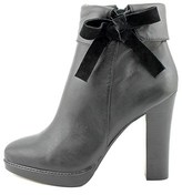 Nina Sofft Womens Nell Leather Round Toe Ankle Fashion Boots, Black, Size 6.5.