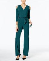 NY Collection Petite Cold-Shoulder Jumpsuit