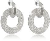 Rebecca R-Zero Rhodium Over Bronze Drop Hoop Earrings