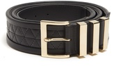 Balmain Quilted leather belt