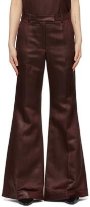 Joseph Burgundy Linen Tana Trousers