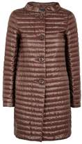 Herno Maroon Quilted Shell Coat