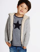 Marks and Spencer Pure Cotton Zip through Knitted Hoody (3 Months - 5 Years)
