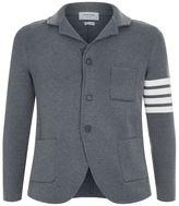 Thom Browne Ribbed Wool Coat Cardigan