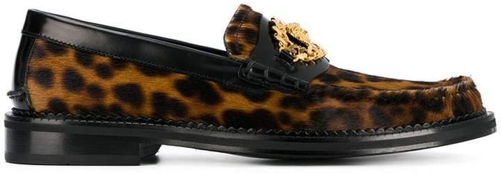 Versace Medusa leopard-print loafers