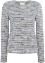 Oui Tweed pocket detail jacket