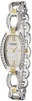 Bulova Women's Caravelle Swarovski Crystal Two Tone Stainless Steel Watch 45L101