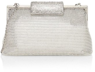 Whiting & Davis Crystal Clasp Mesh Pouch