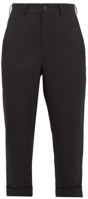 Comme des Garcons Wool Straight-leg Cropped Trousers - Womens - Black