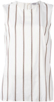 Brunello Cucinelli striped top - women - Silk/Spandex/Elastane/Brass - L