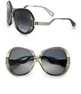 Diane von Furstenberg Odette Oversized Round Sunglasses