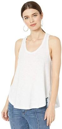 bobi Los Angeles Simple Swing Tank Top in Slubbed Jersey (White) Women's Clothing