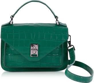 Rebecca Minkoff Croco Embossed Leather Mini Darren Messenger Bag